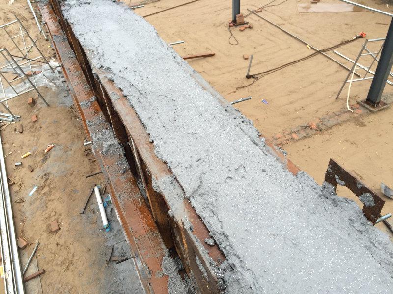 泡沫混凝土浇筑墙体无塌陷