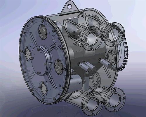90双管泵泵子动态示意图